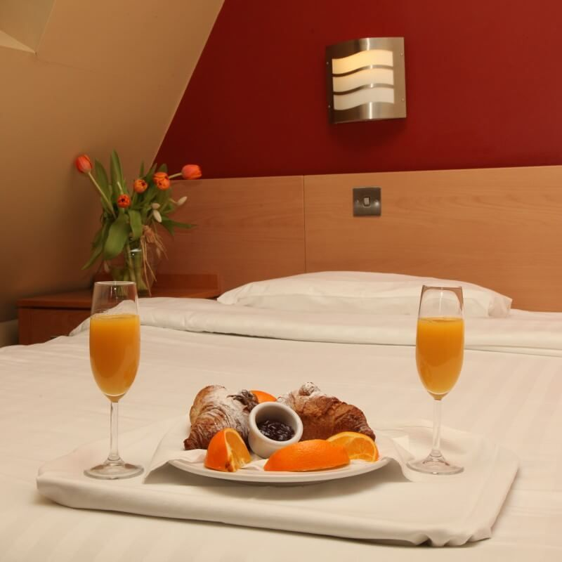 Enjoy room service at the Harding Hotel